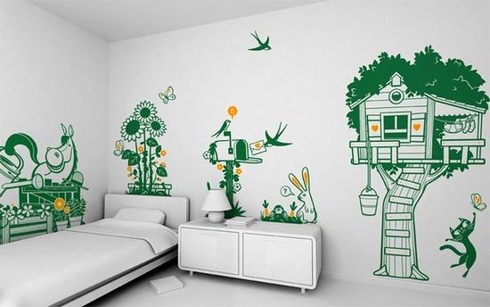 Украшаем стены детской комнаты