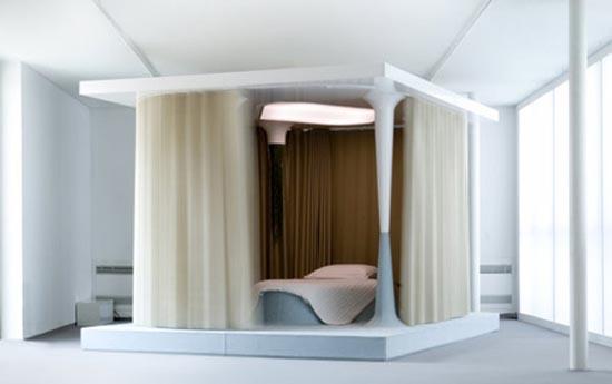 Блаженное уединение сна в кровати от Метью Леханнаура
