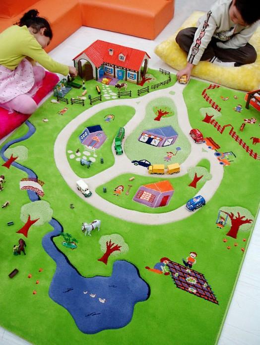 Ковер для детской комнаты – подарите ребенку его собственную страну