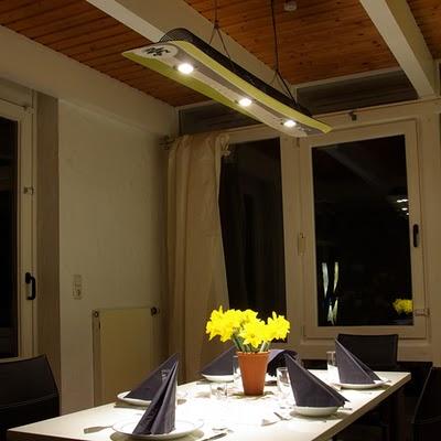 Лампа из старой доски для сноуборда