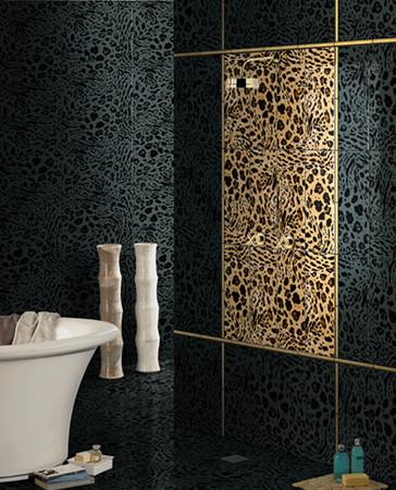 Черный в интерьере ванной комнаты фото