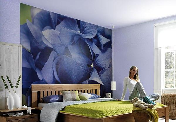 Фотообои с цветочным орнаментом