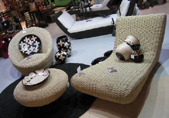 Легкая плетеная мебель