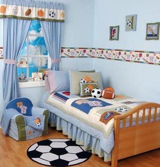 Детские комнаты для мальчиков футбольная тема