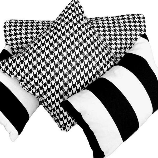 Подушки декоративные черно-белые