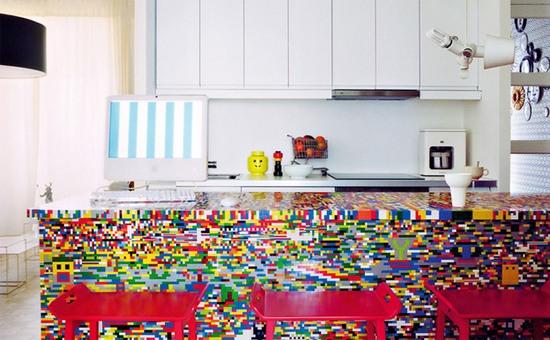 Конструкторы Лего в интерьере кухни