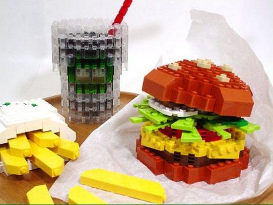 Конструктор Лего гамбургер