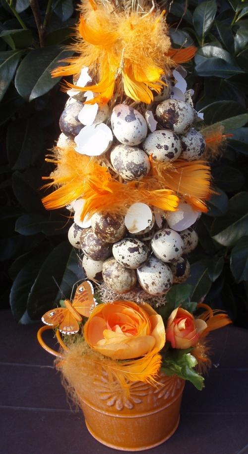Пасхальное дерево из яиц