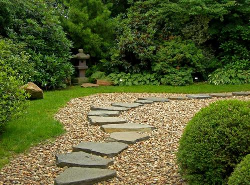 Садовые дорожки из камня фото