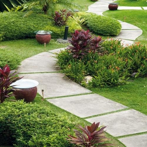 Садовые дорожки из бетона фото