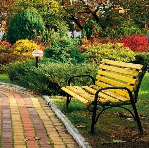 Садовые дорожки из тротуарной бетонной плитки