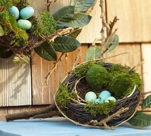 Пасхальные гнезда фото