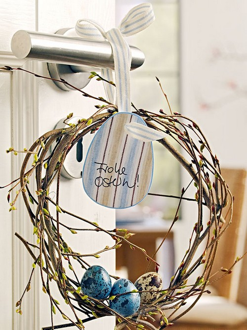 Пасхальные декорации на двери фото