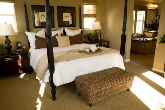 Спальня в колониальном стиле