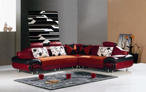 Кожаная угловая мебель