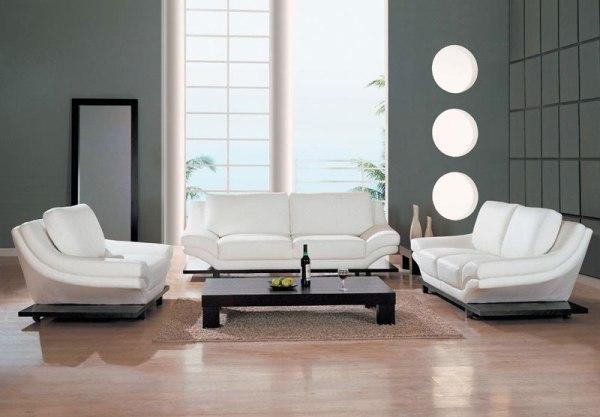 Кожаная мебель белая фото