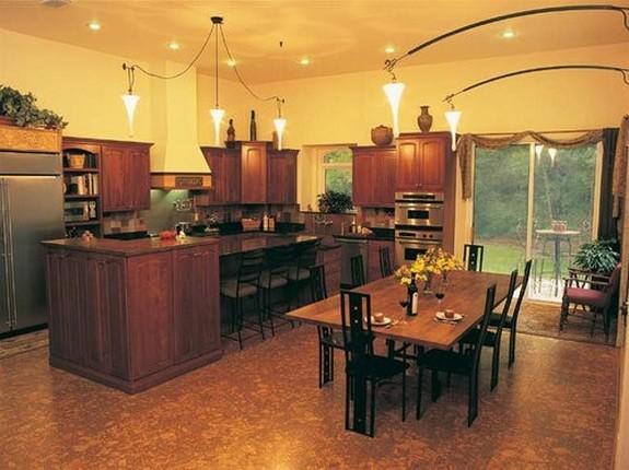 Пробковые полы на кухне фото