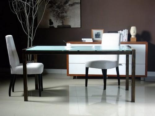 Кухонные столы дерево стекло