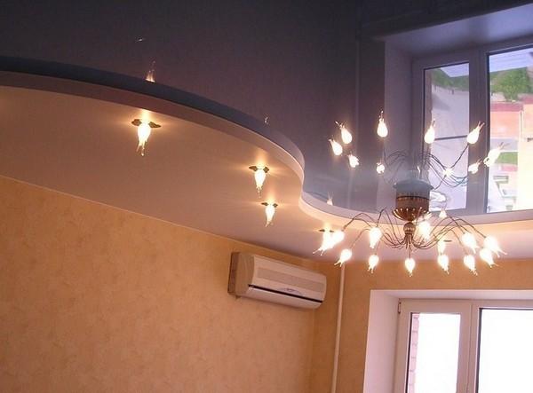 Фото натяжных потолков в квартирах