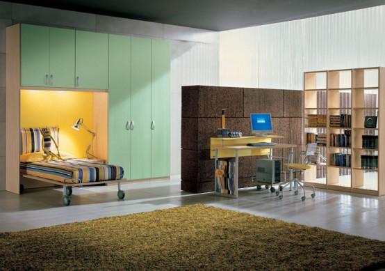 Комната для подростков со стеной