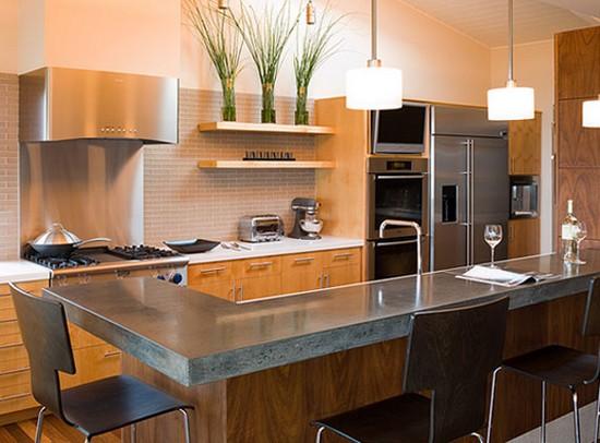 Модульная мебель для кухни с барной стойкой фото
