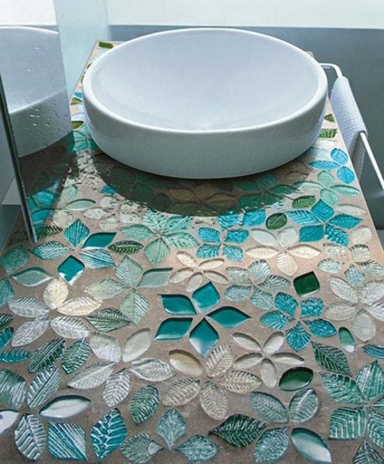 Мозаичная плитка в ванной