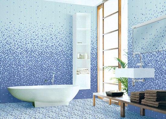Мозаичные полы в ванной