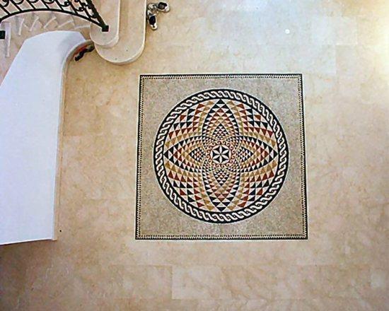 Мозаичные полы фото