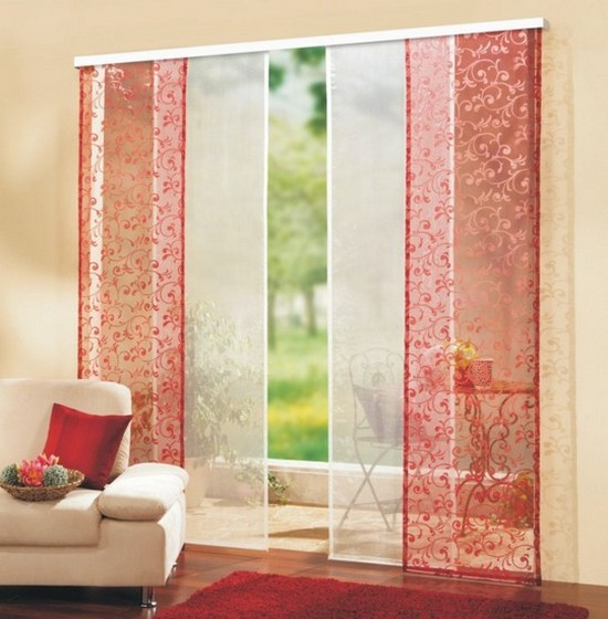 Японские панели шторы фото