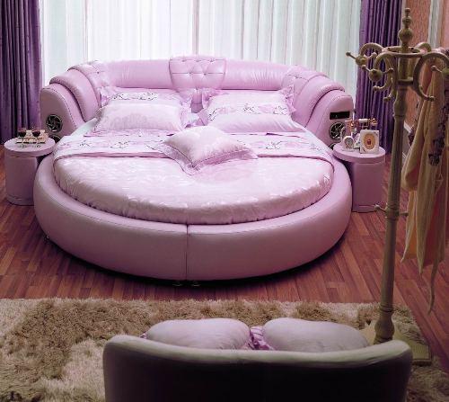Круглая кровать фото