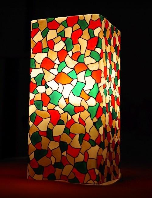 Витражная настольная лампа