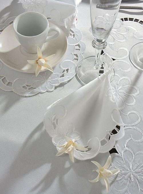 Оформление кухни в белом цвете