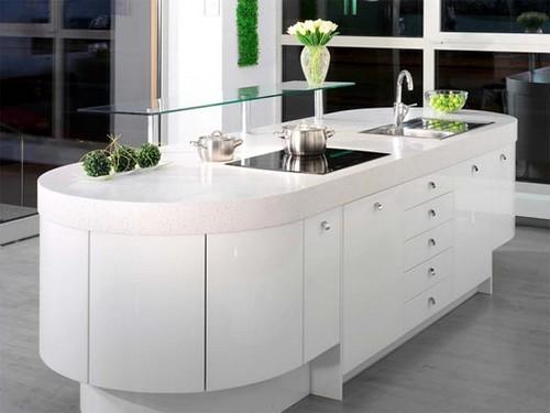 Интерьер белой кухни фото