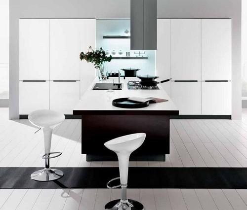 Черно-белая кухня фото