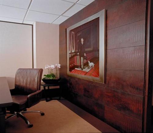 Кожаные покрытия для стен