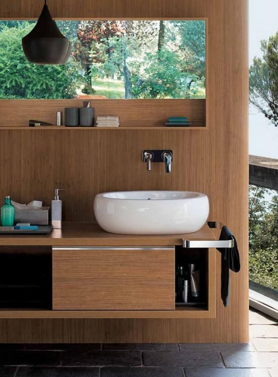 Деревянная мебель для ванной
