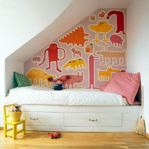 Детская комната под лестницей