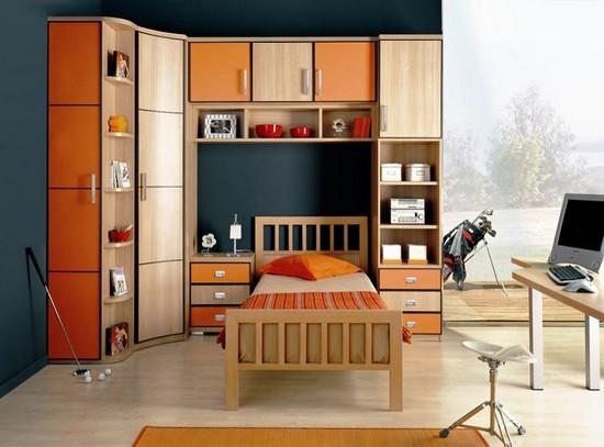 Интерьер комнаты для школьника старшеклассника