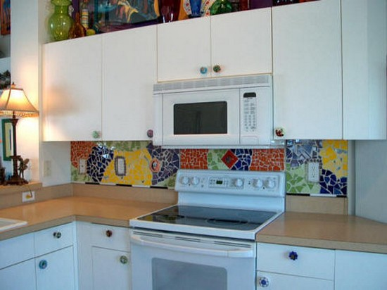 Мозаика на кухне фото