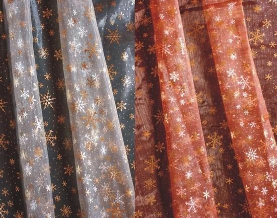 Украшаем дом к Новому году - шторы из органзы