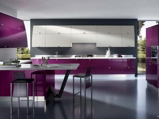 Фиолетовые интерьеры фото