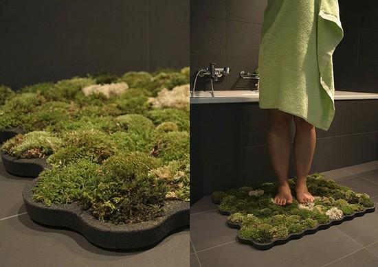Эксклюзивные коврики для ванной из мха