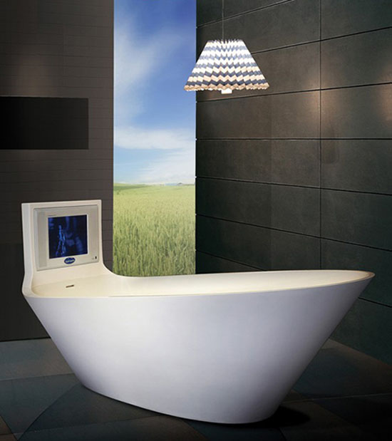 Овальная акриловая ванна гидромассажная