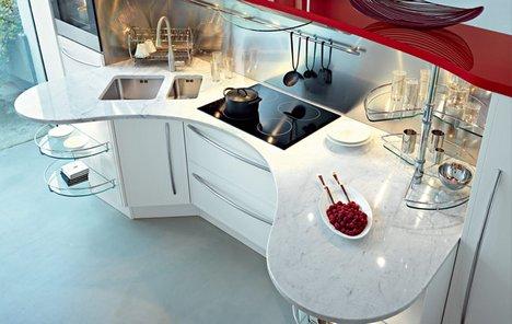 Полукруглые столы - кухни Snaidero