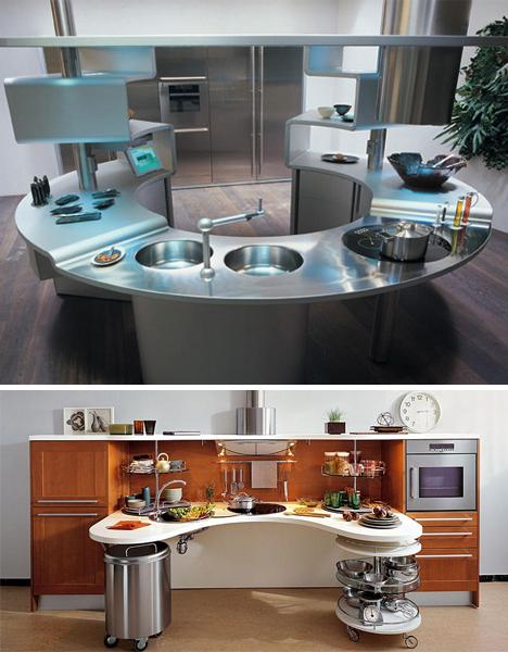 Полукруглые столы Snaidero