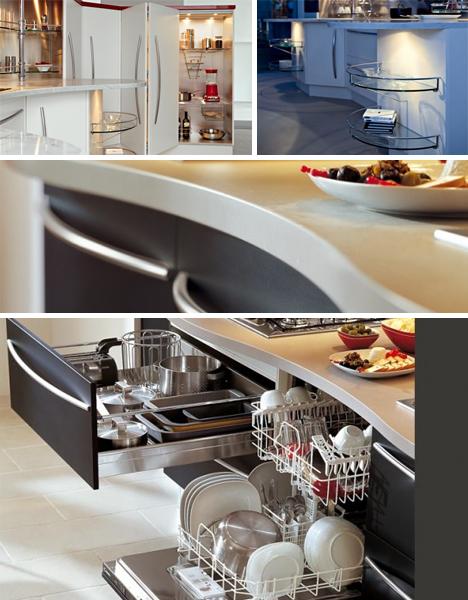 Полукруглые кухонные столы Снайдеро