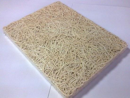 Панели из древесной шерсти