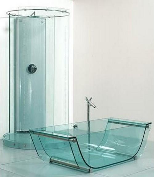 стеклянные ванны и душевые кабины