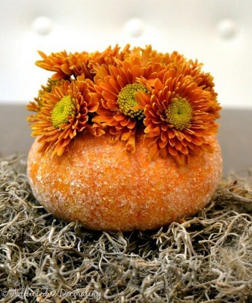 Декоративные вазы из тыквы