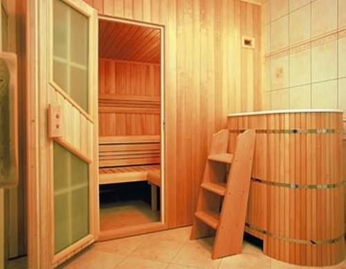 Внутренняя отделка бани - двери и дверные ручки